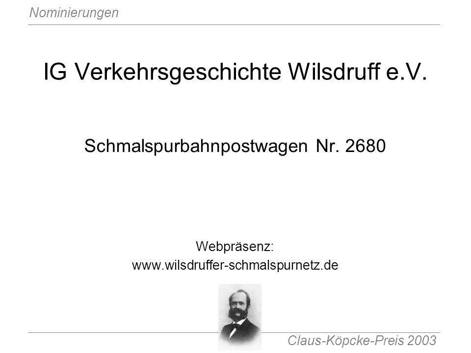 IG Verkehrsgeschichte Wilsdruff e.V.