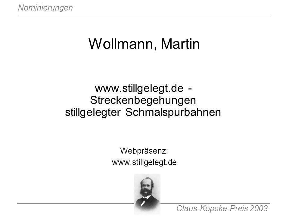 www.stillgelegt.de - Streckenbegehungen stillgelegter Schmalspurbahnen