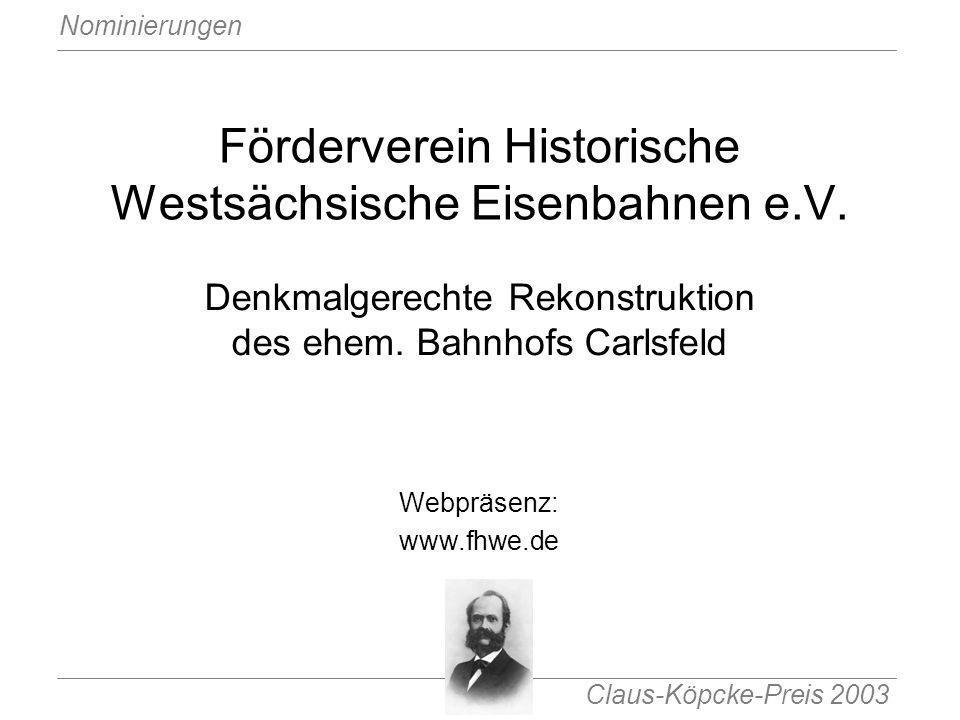 Förderverein Historische Westsächsische Eisenbahnen e.V.