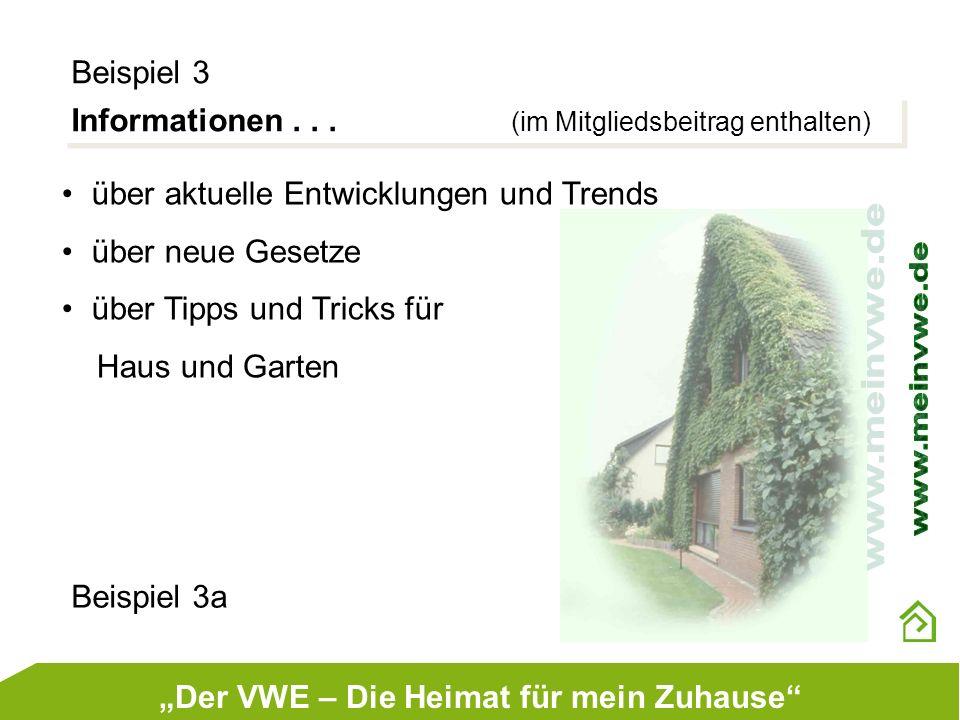 """""""Der VWE – Die Heimat für mein Zuhause"""