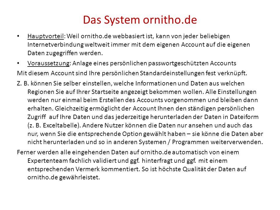 Das System ornitho.de