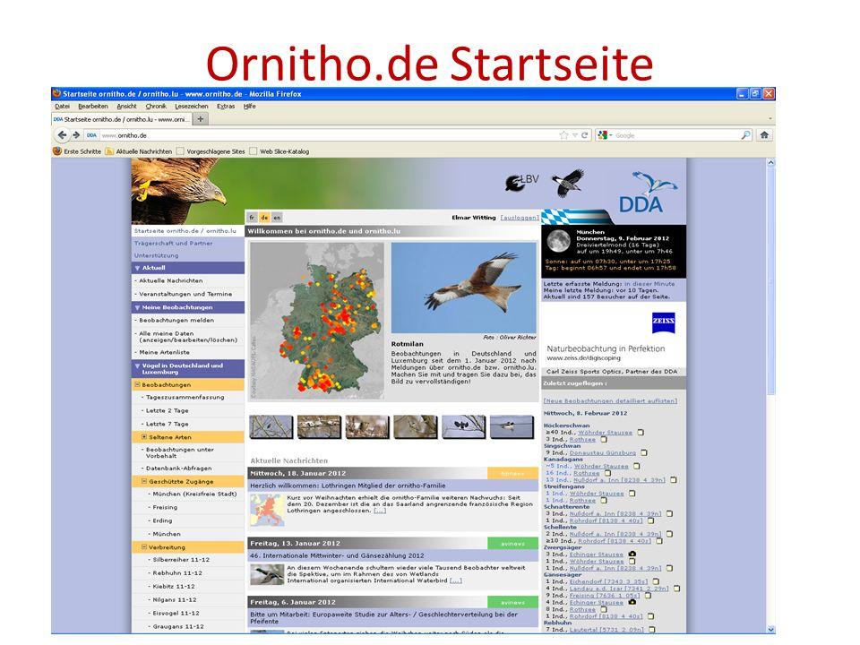 Ornitho.de Startseite