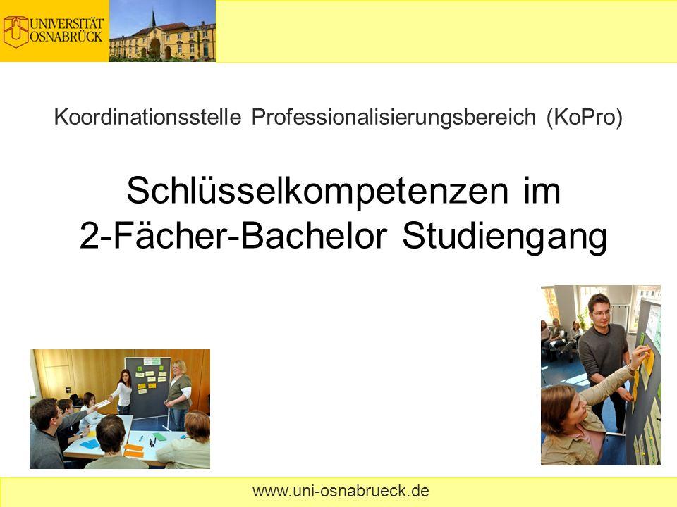 Schlüsselkompetenzen im 2-Fächer-Bachelor Studiengang