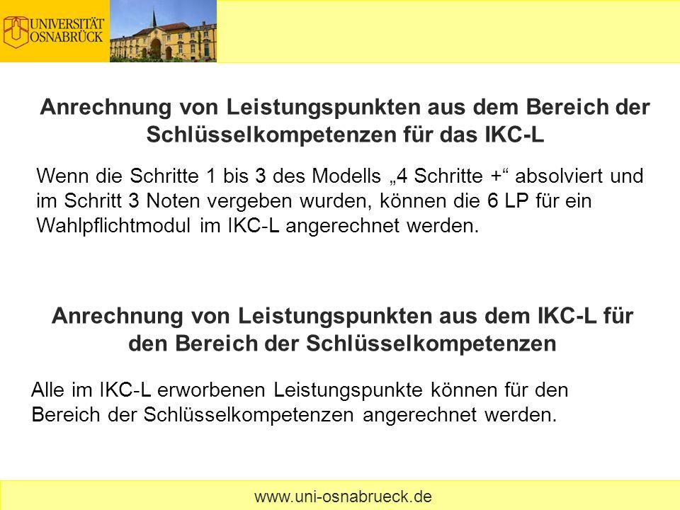 Anrechnung von Leistungspunkten aus dem Bereich der Schlüsselkompetenzen für das IKC-L