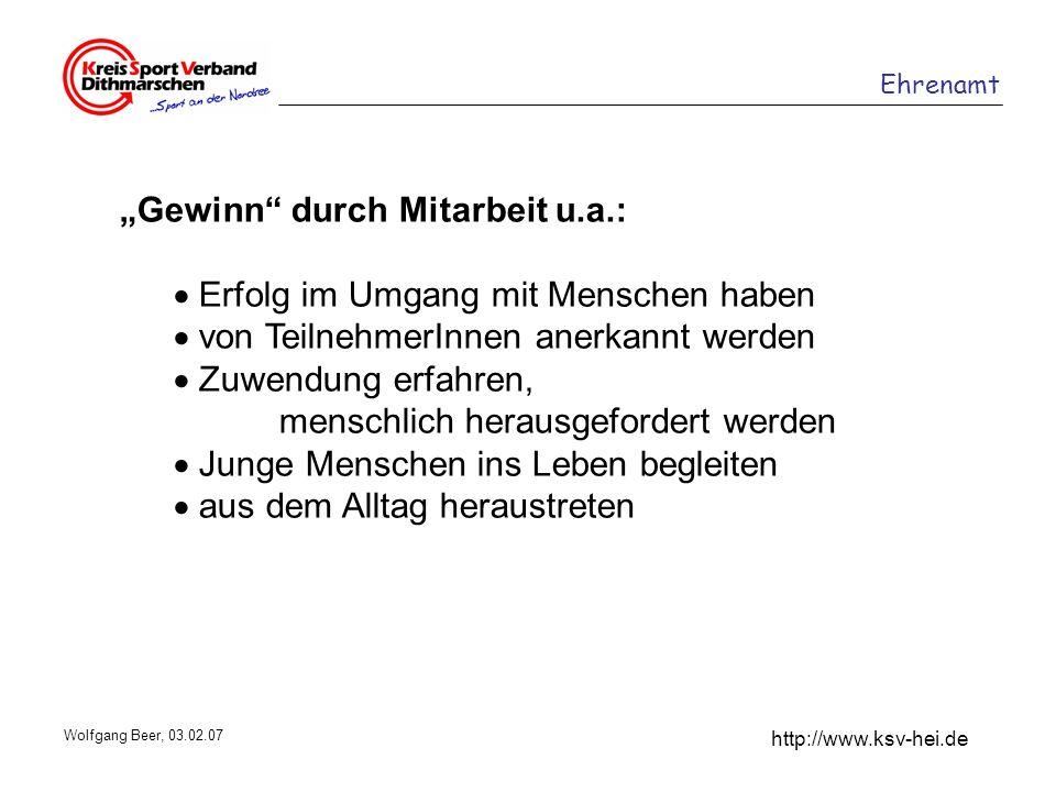 """""""Gewinn durch Mitarbeit u.a.:  Erfolg im Umgang mit Menschen haben"""