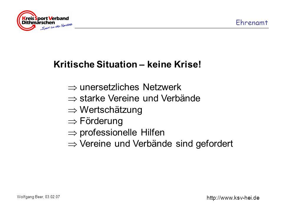 Kritische Situation – keine Krise!  unersetzliches Netzwerk