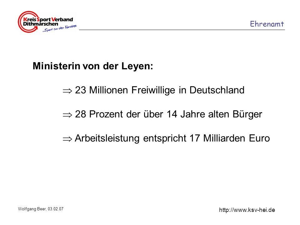 Ministerin von der Leyen:  23 Millionen Freiwillige in Deutschland