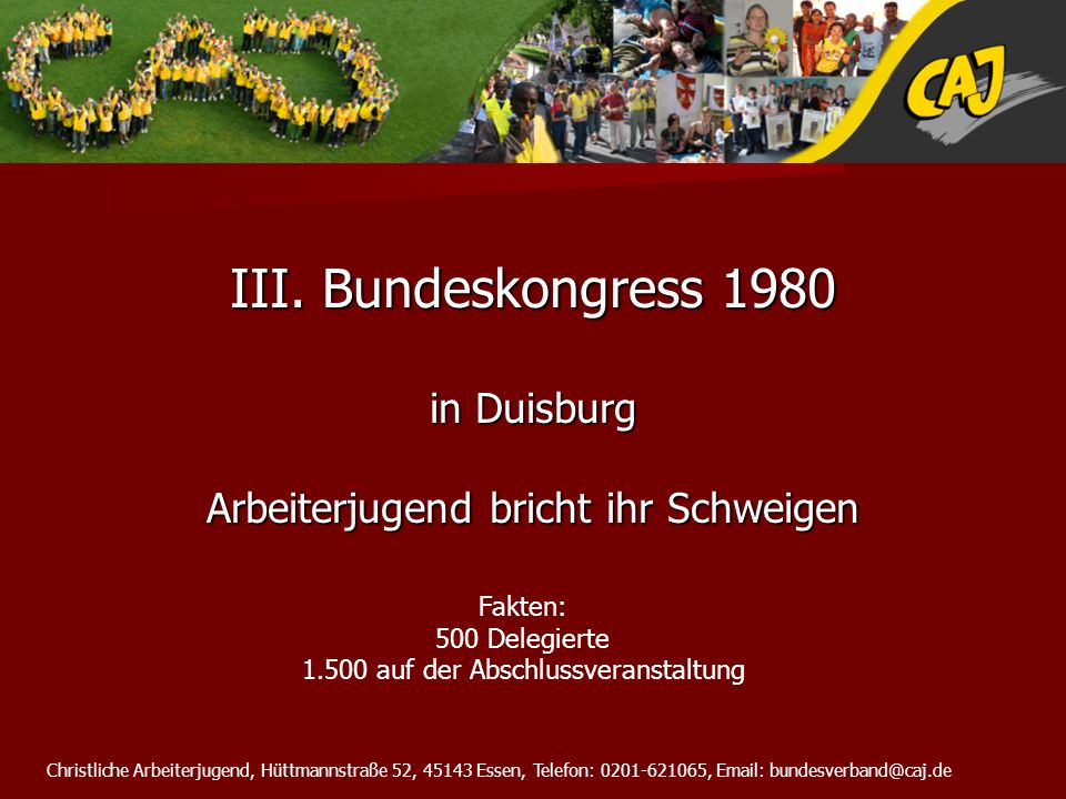 III. Bundeskongress 1980 in Duisburg