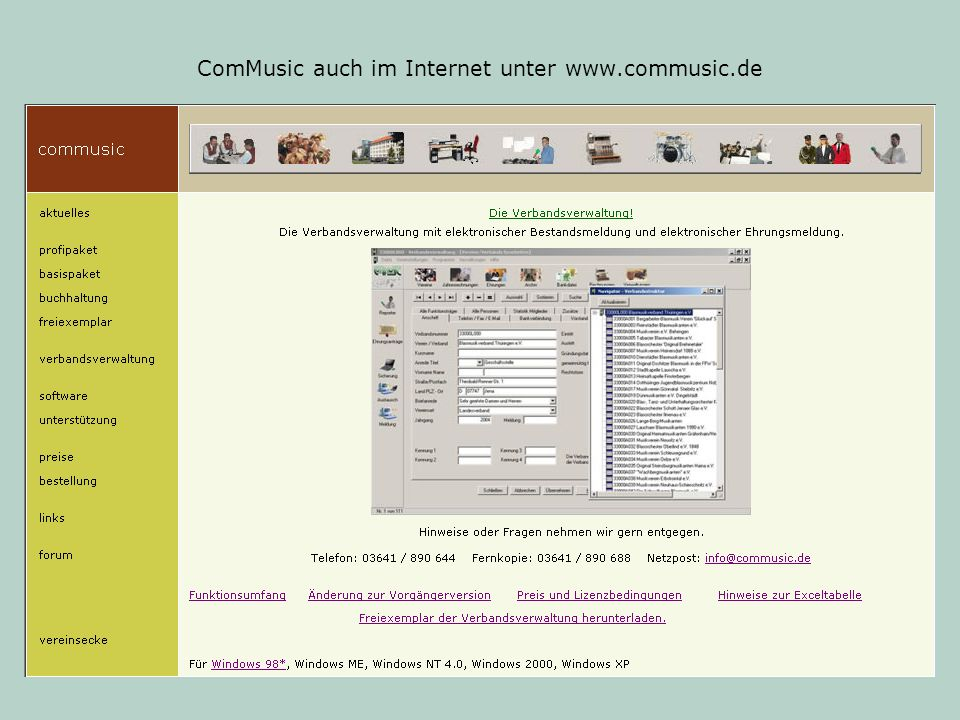 ComMusic auch im Internet unter www.commusic.de