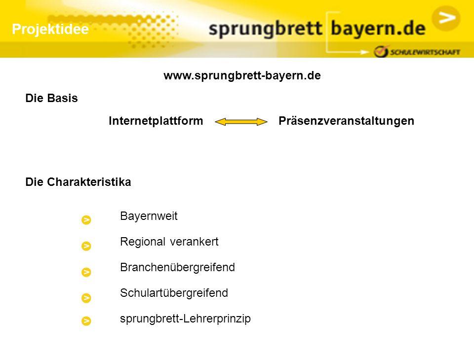 Projektidee www.sprungbrett-bayern.de Die Basis