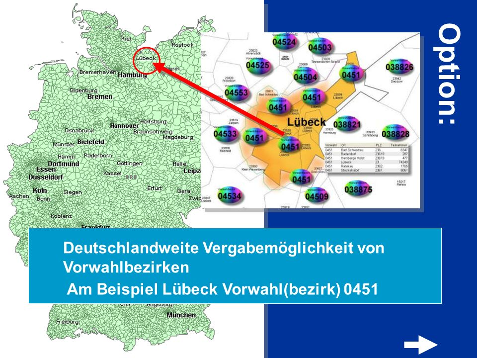 Option: Deutschlandweite Vergabemöglichkeit von Vorwahlbezirken