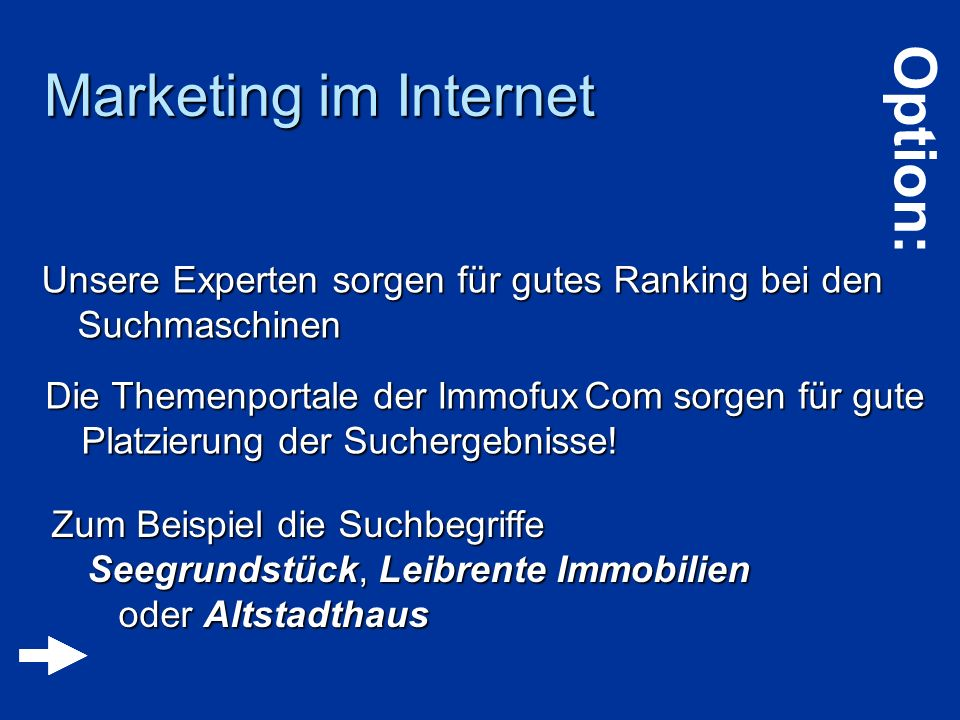Marketing im Internet Option:
