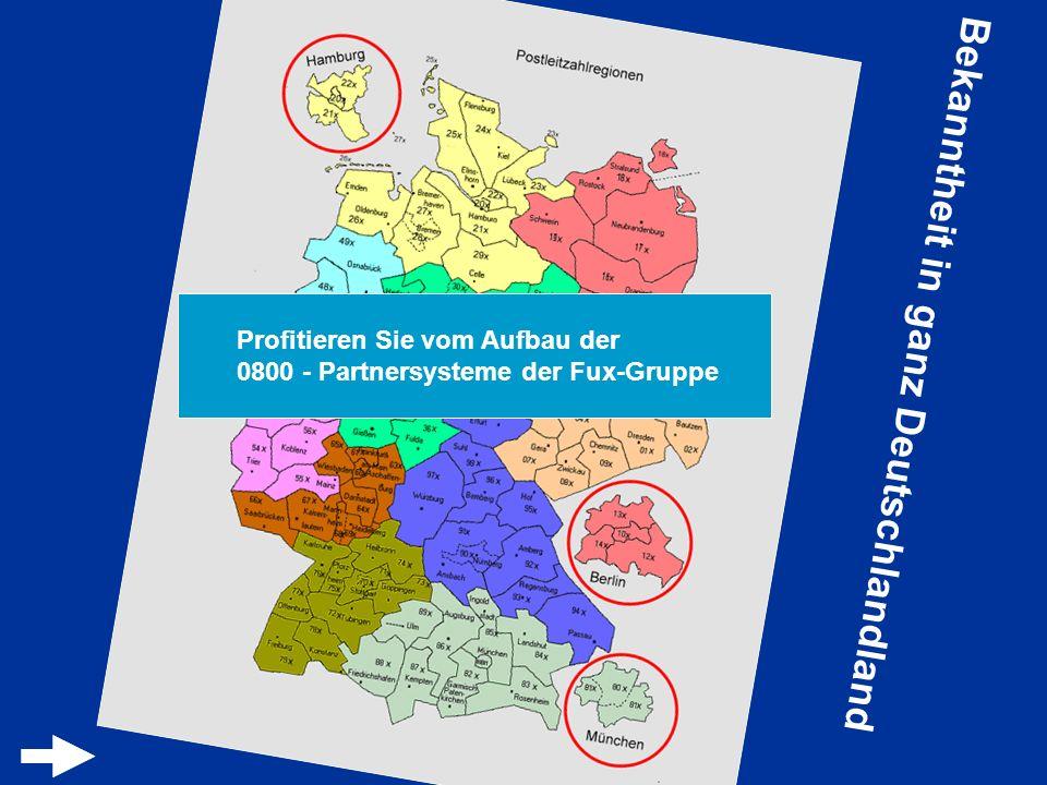 Bekanntheit in ganz Deutschlandland