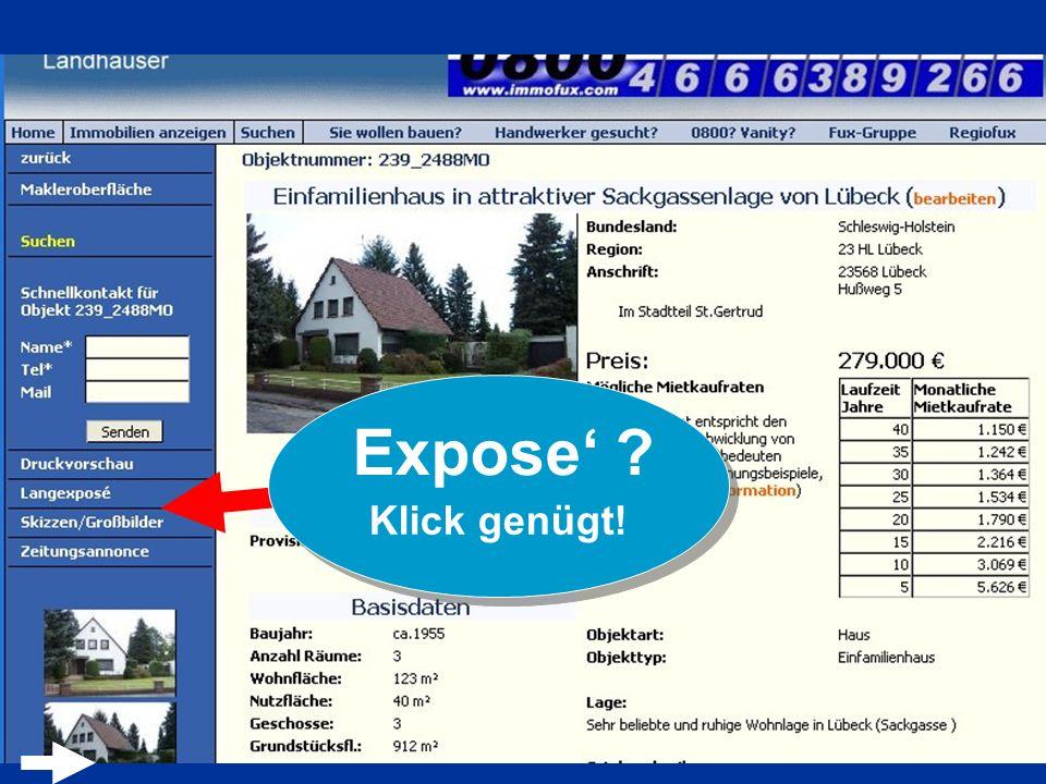 Expose' Klick genügt!