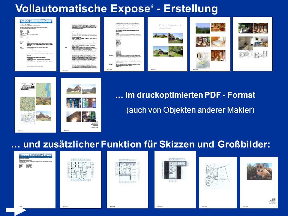 Vollautomatische Expose' - Erstellung