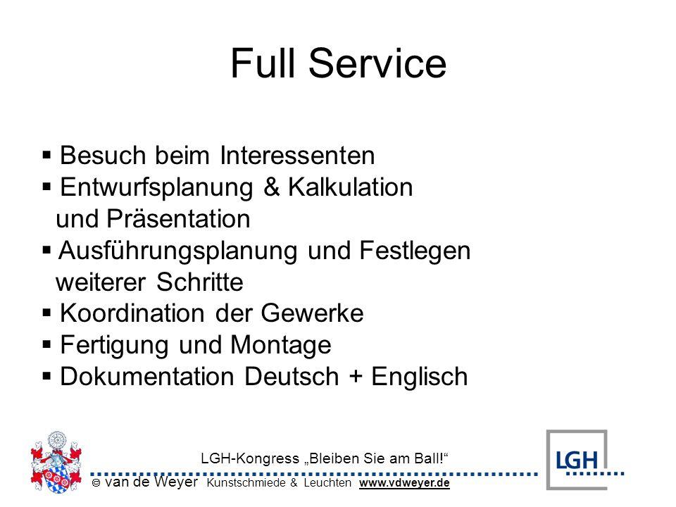 Full Service Besuch beim Interessenten Entwurfsplanung & Kalkulation