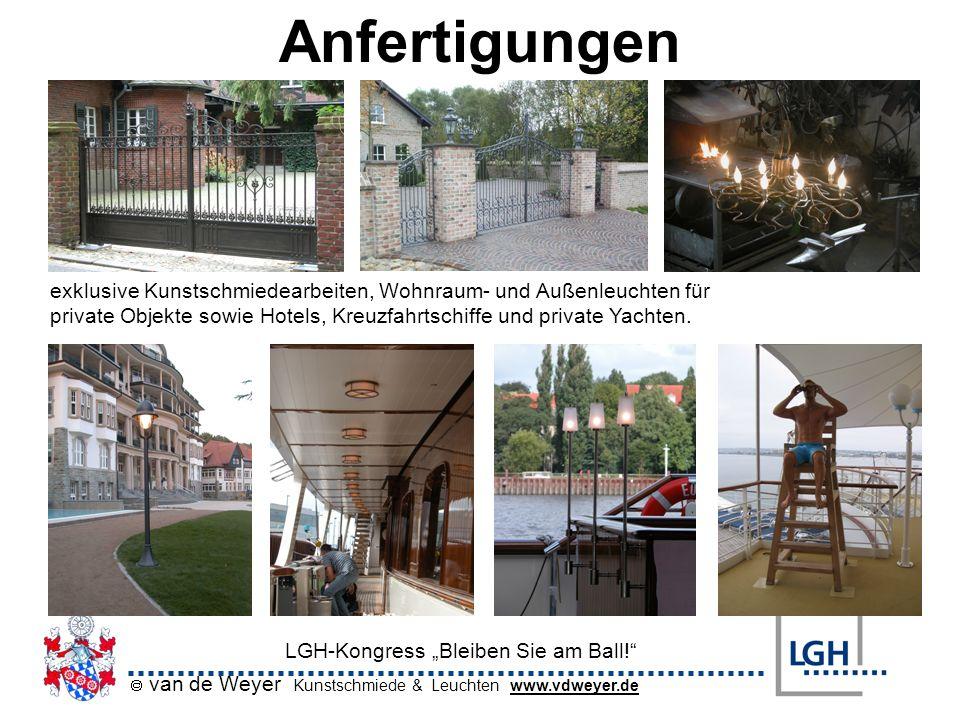 Anfertigungen exklusive Kunstschmiedearbeiten, Wohnraum- und Außenleuchten für.
