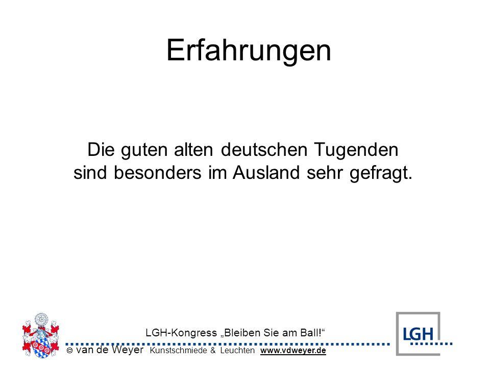 Erfahrungen Die guten alten deutschen Tugenden