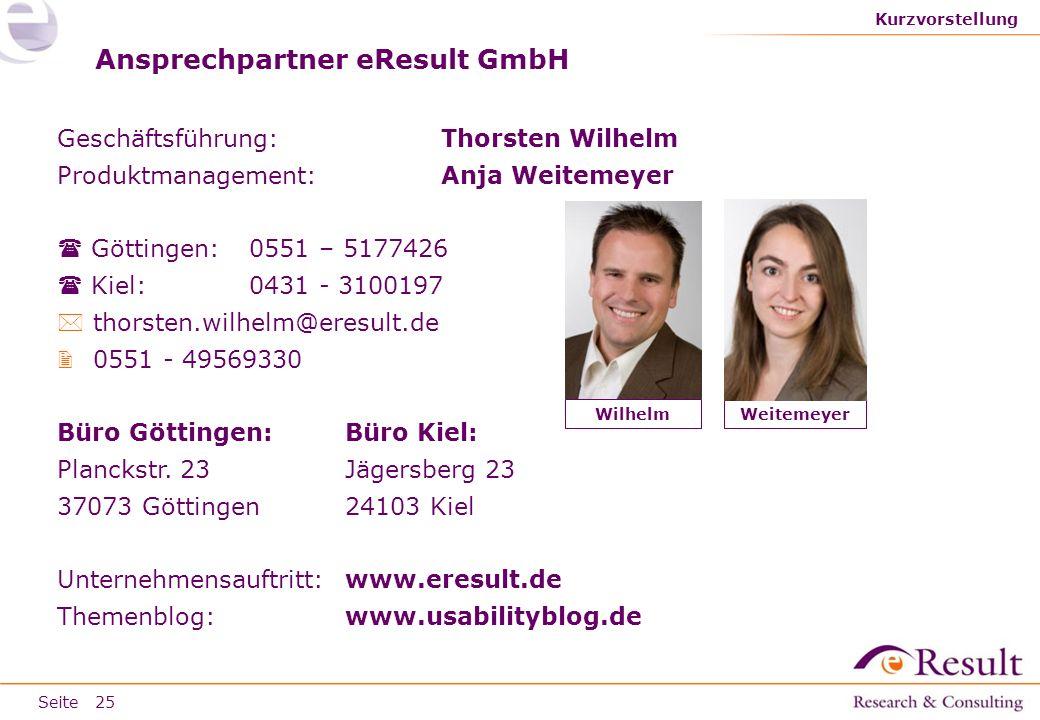 Ansprechpartner eResult GmbH