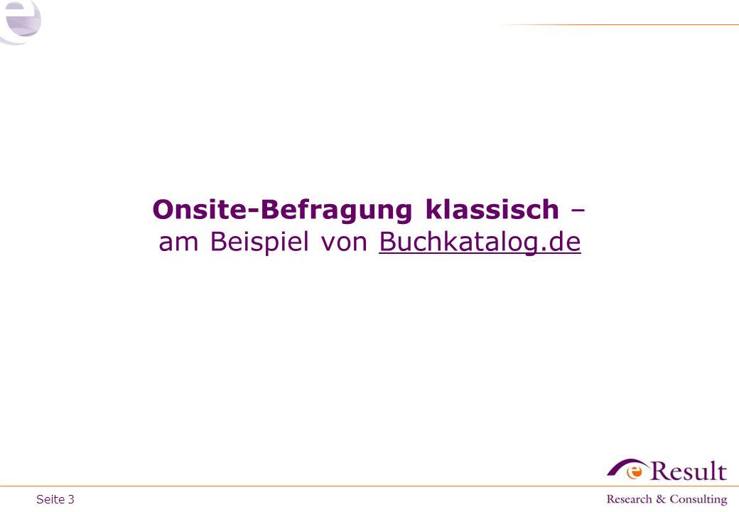 Onsite-Befragung klassisch – am Beispiel von Buchkatalog.de