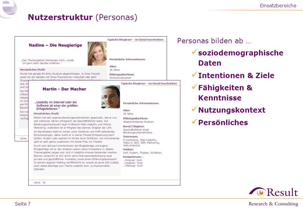 Nutzerstruktur (Personas)