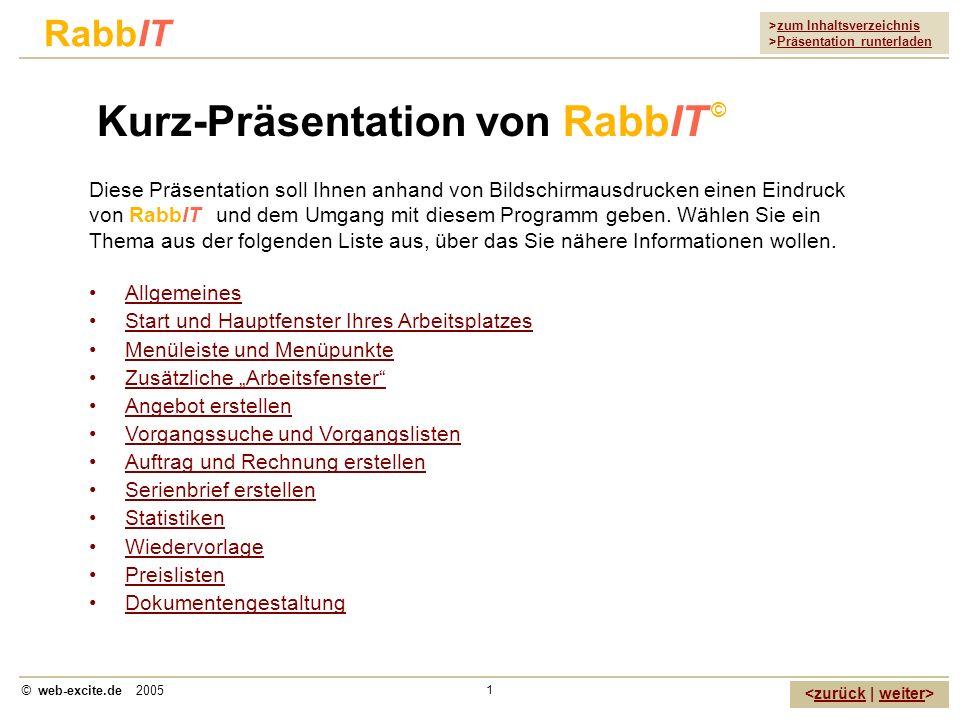 Kurz-Präsentation von RabbIT ©