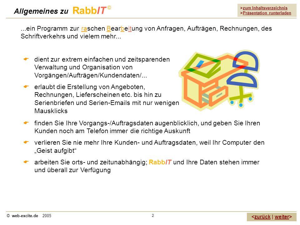 Allgemeines zu RabbIT ©