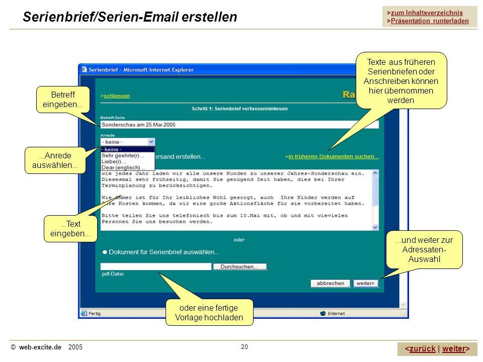 Serienbrief/Serien-Email erstellen
