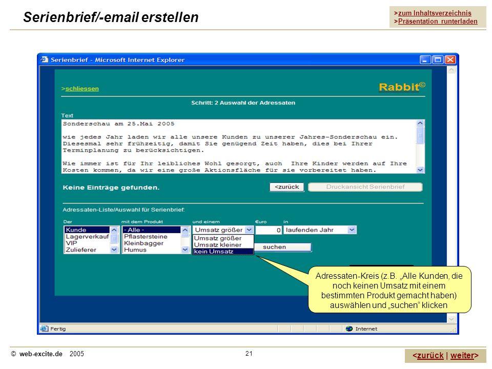 Serienbrief/-email erstellen