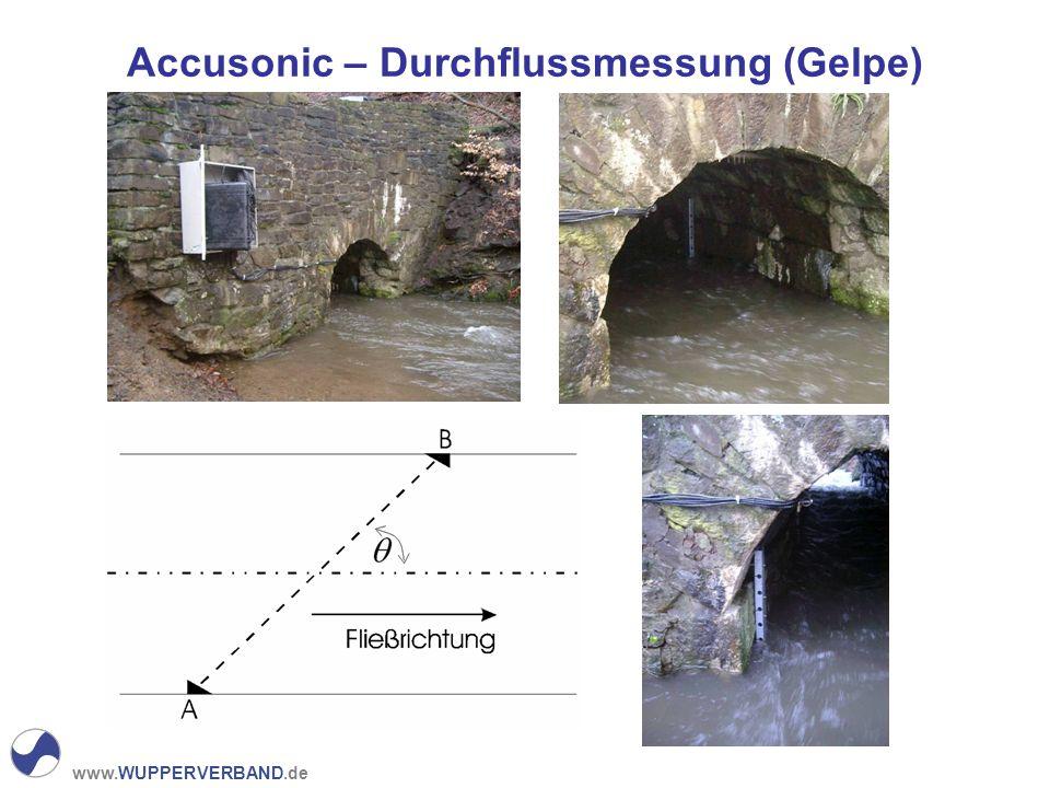 Accusonic – Durchflussmessung (Gelpe)