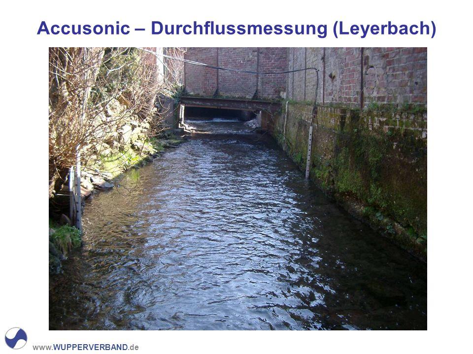 Accusonic – Durchflussmessung (Leyerbach)