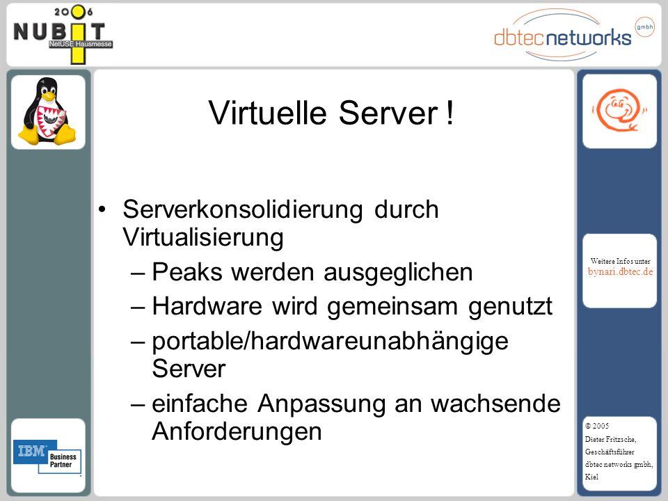 Virtuelle Server ! Serverkonsolidierung durch Virtualisierung