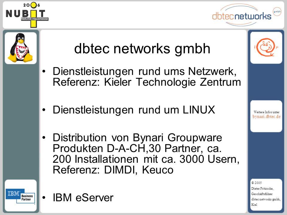 dbtec networks gmbh Dienstleistungen rund ums Netzwerk, Referenz: Kieler Technologie Zentrum. Dienstleistungen rund um LINUX.