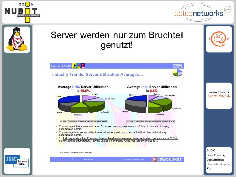 Server werden nur zum Bruchteil genutzt!