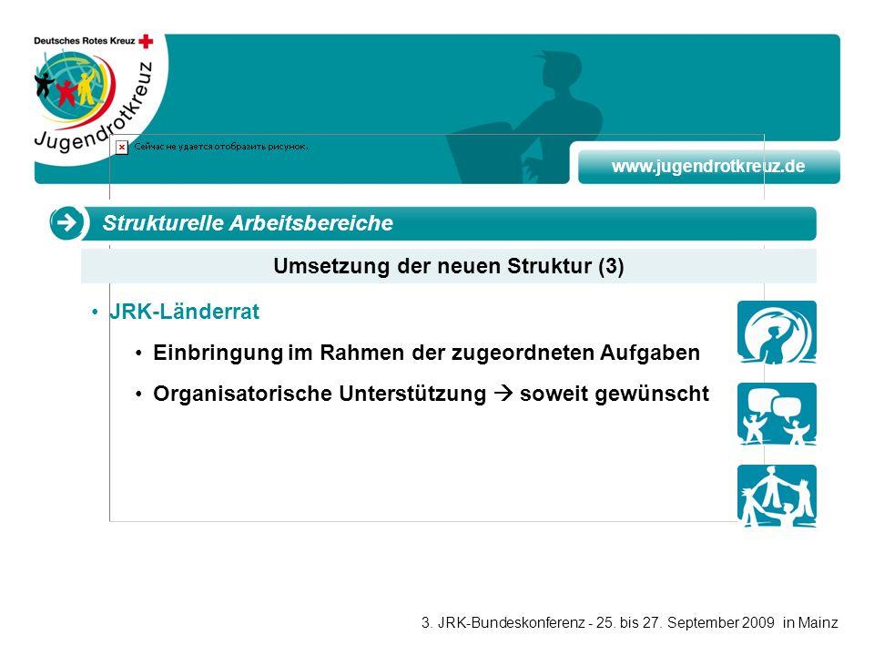 Umsetzung der neuen Struktur (3)