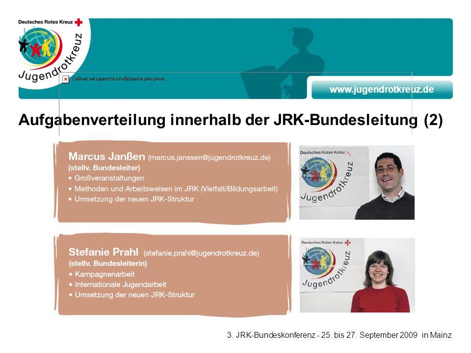 Aufgabenverteilung innerhalb der JRK-Bundesleitung (2)