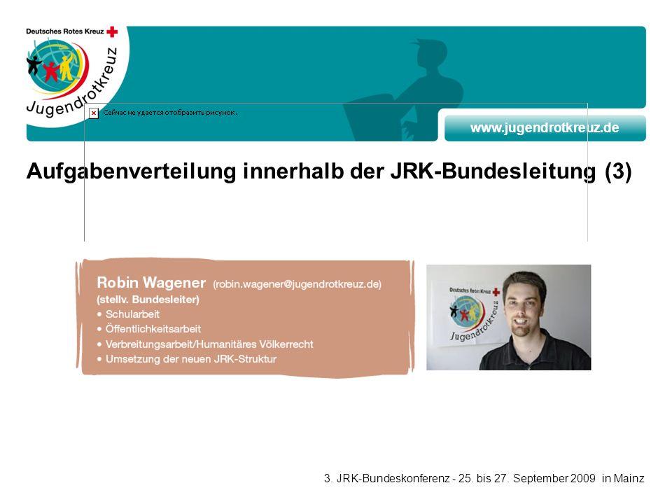 Aufgabenverteilung innerhalb der JRK-Bundesleitung (3)