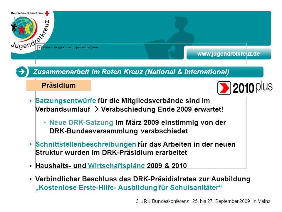 Zusammenarbeit im Roten Kreuz (National & International)