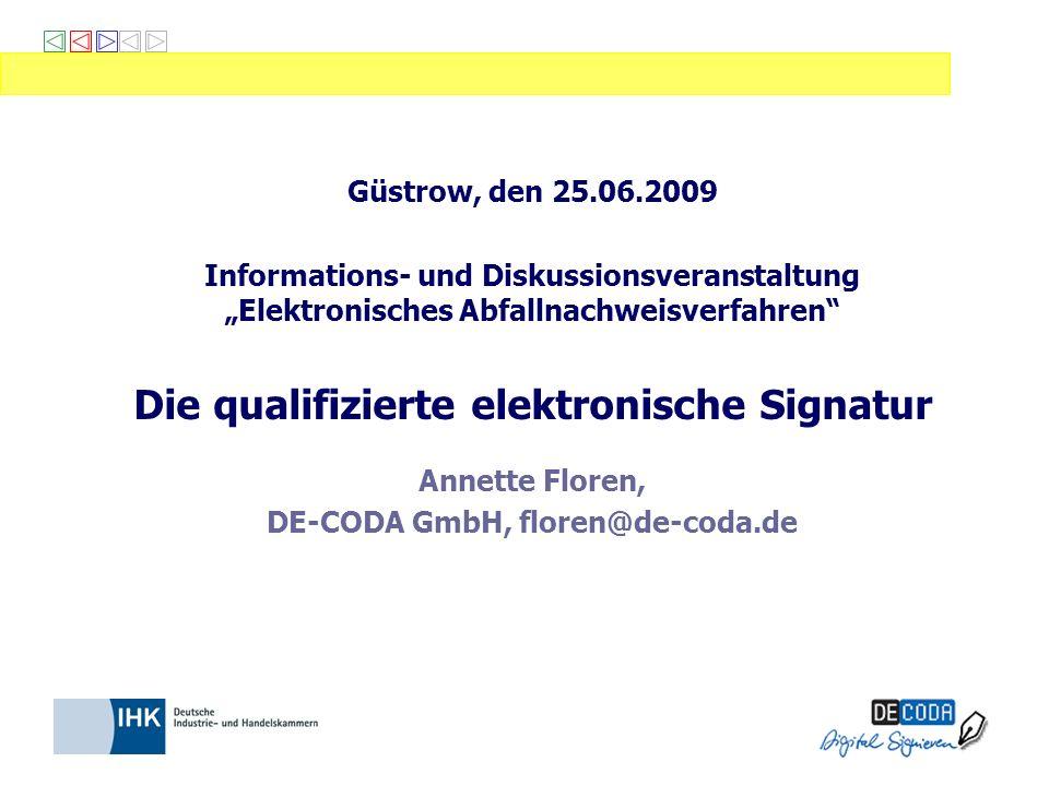 Die qualifizierte elektronische Signatur Annette Floren,