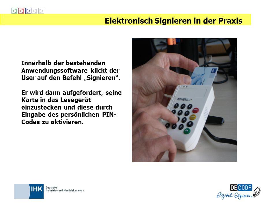 Elektronisch Signieren in der Praxis