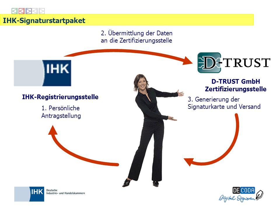 D-TRUST GmbH Zertifizierungsstelle IHK-Registrierungsstelle