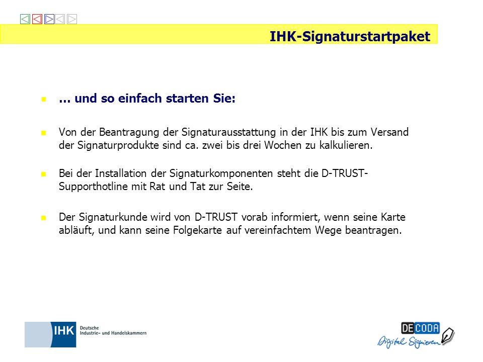 IHK-Signaturstartpaket