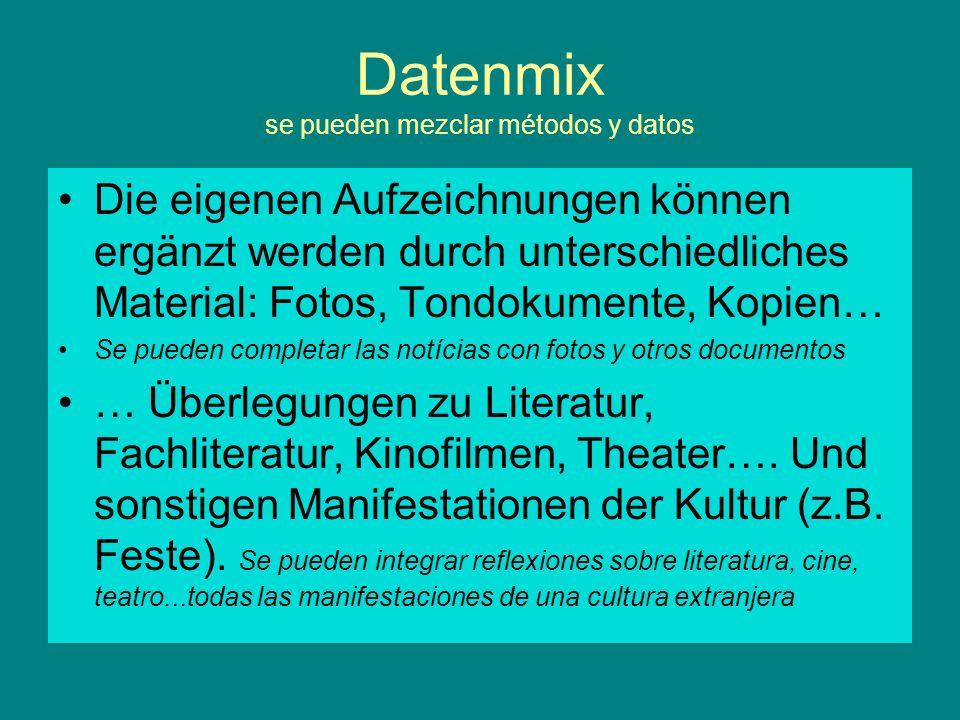 Datenmix se pueden mezclar métodos y datos