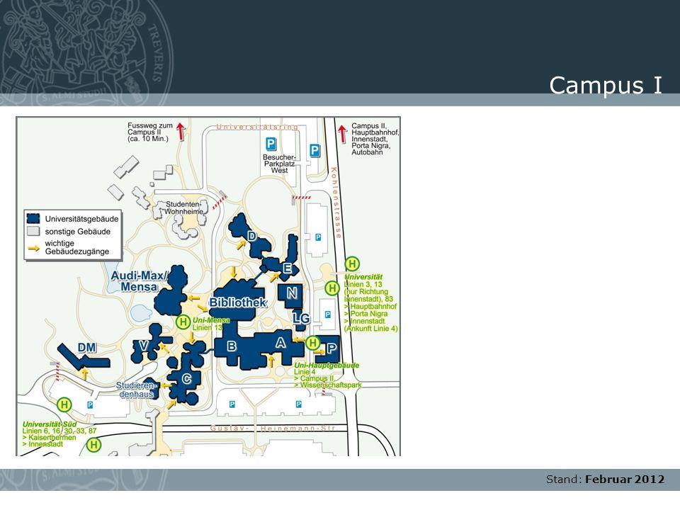 Campus I Stand: Februar 2012