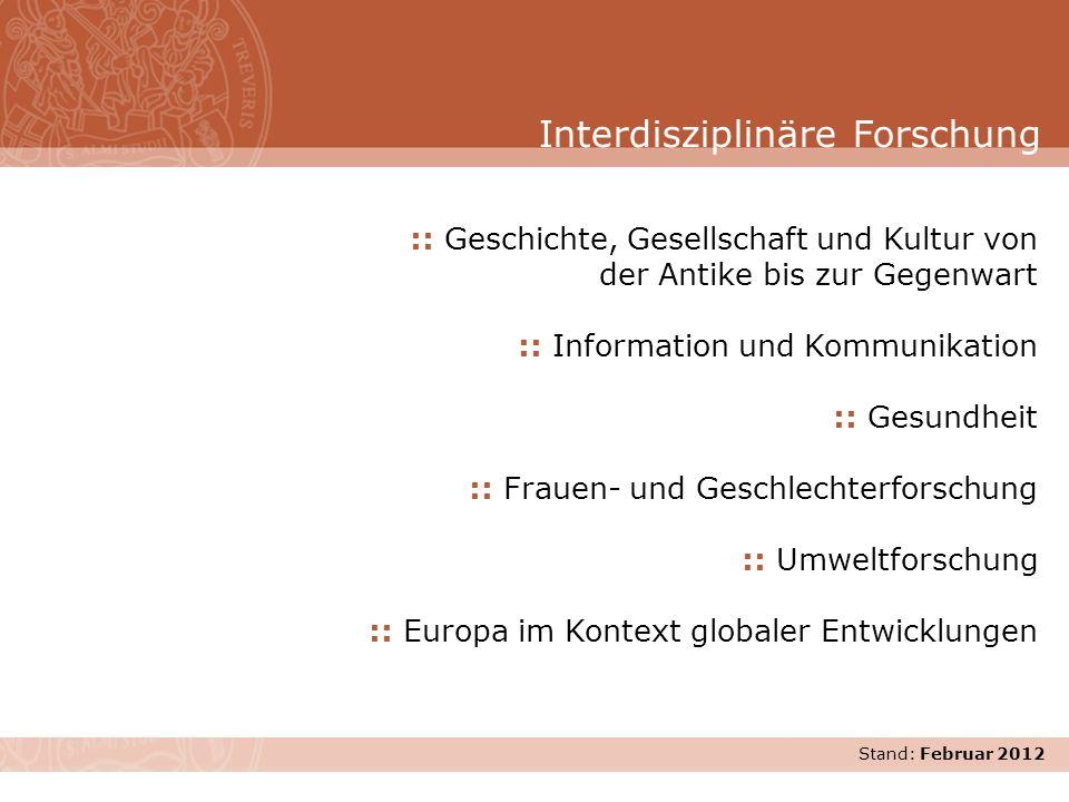 Interdisziplinäre Forschung