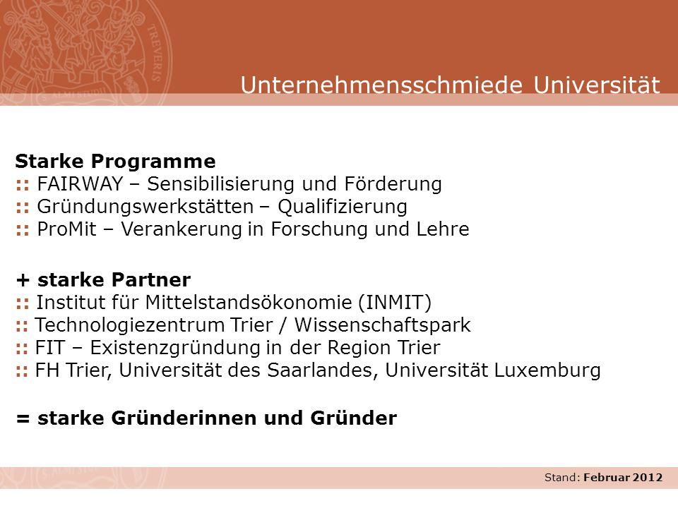 Unternehmensschmiede Universität