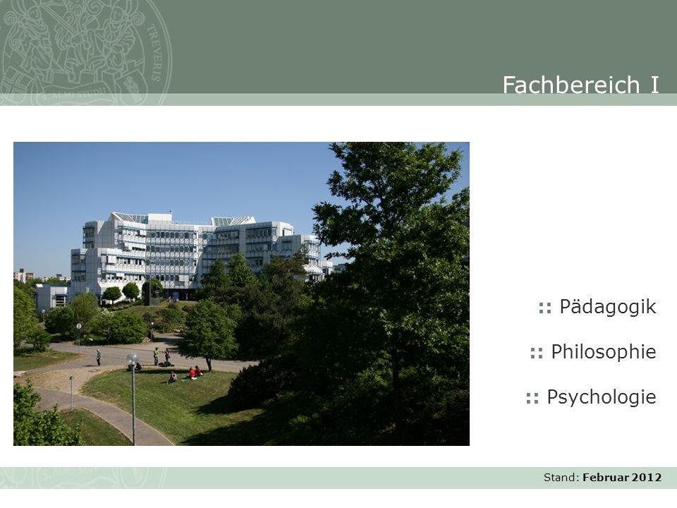 Fachbereich I :: Pädagogik :: Philosophie :: Psychologie