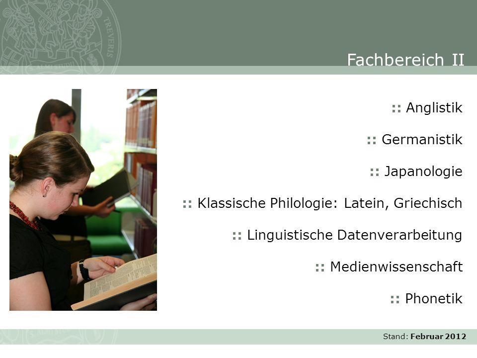 Fachbereich II :: Anglistik :: Germanistik :: Japanologie