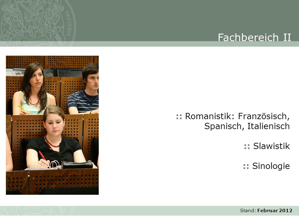 Fachbereich II :: Romanistik: Französisch, Spanisch, Italienisch