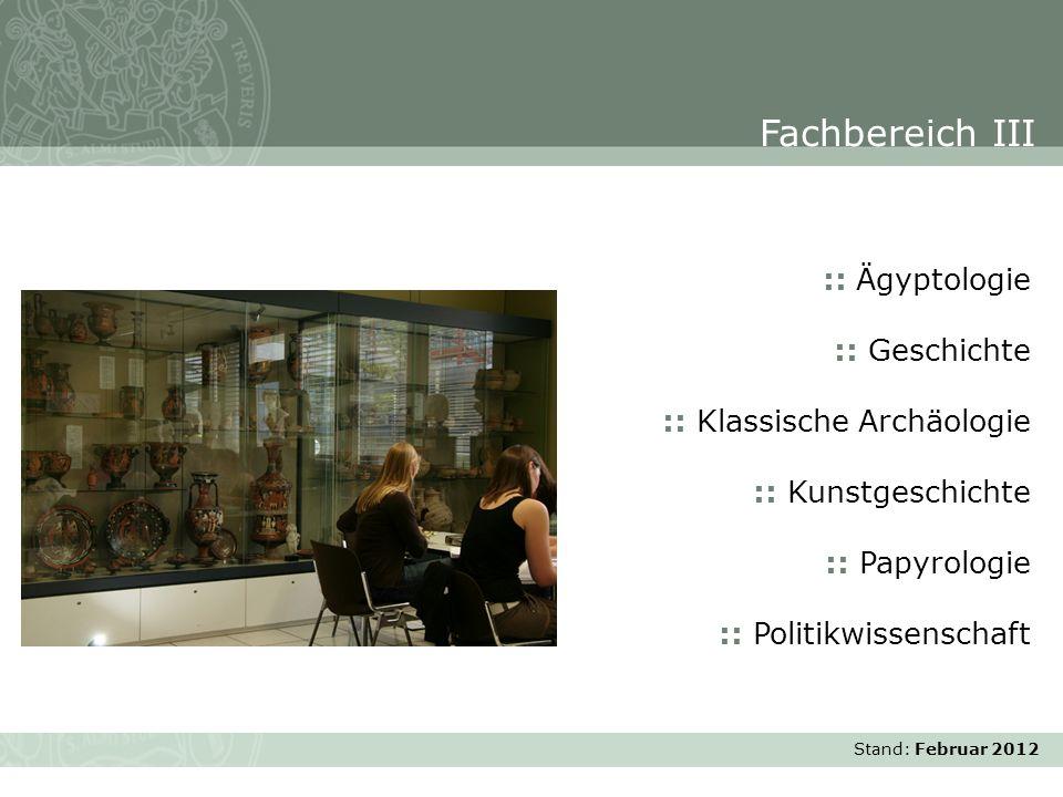 Fachbereich III :: Ägyptologie :: Geschichte :: Klassische Archäologie